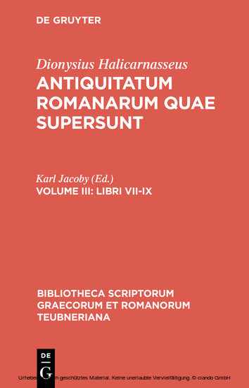 Libri VII-IX - Blick ins Buch