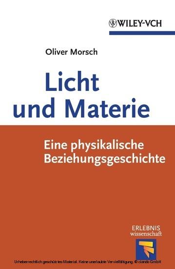 Licht und Materie - Blick ins Buch