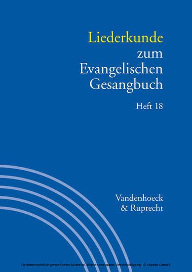 Liederkunde zum Evangelischen Gesangbuch. Heft 18 - Blick ins Buch