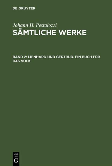 Lienhard und Gertrud. Ein Buch für das Volk - Blick ins Buch