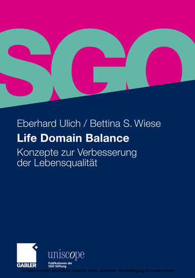 Life Domain Balance - Blick ins Buch