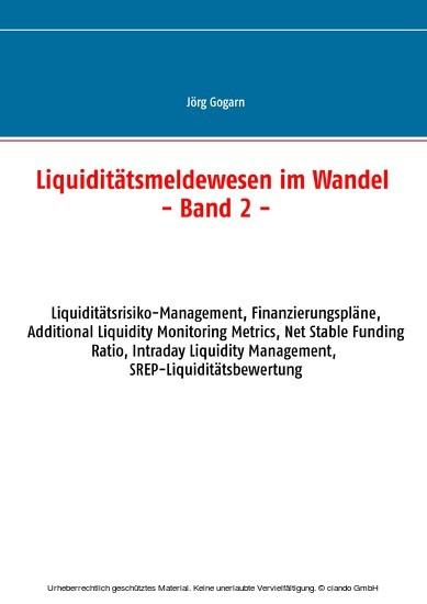 Liquiditätsmeldewesen im Wandel - Blick ins Buch