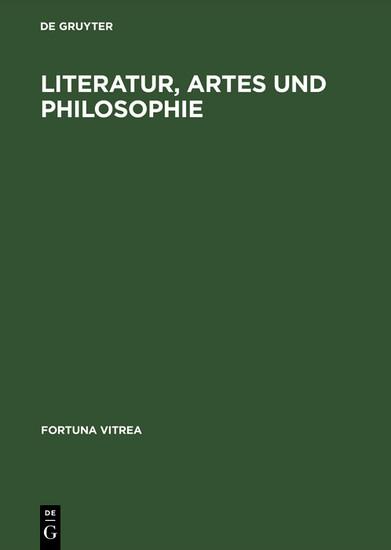 Literatur, Artes und Philosophie - Blick ins Buch