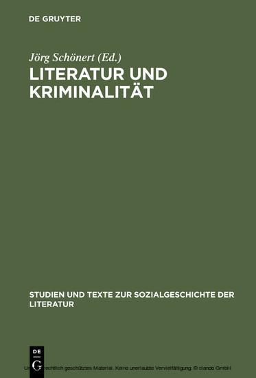 Literatur und Kriminalität - Blick ins Buch