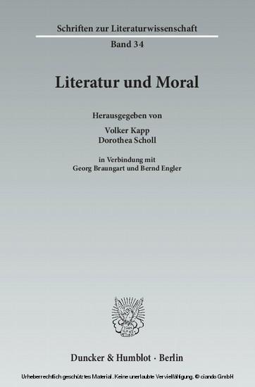 Literatur und Moral. - Blick ins Buch