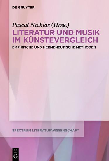 Literatur und Musik im Künstevergleich - Blick ins Buch