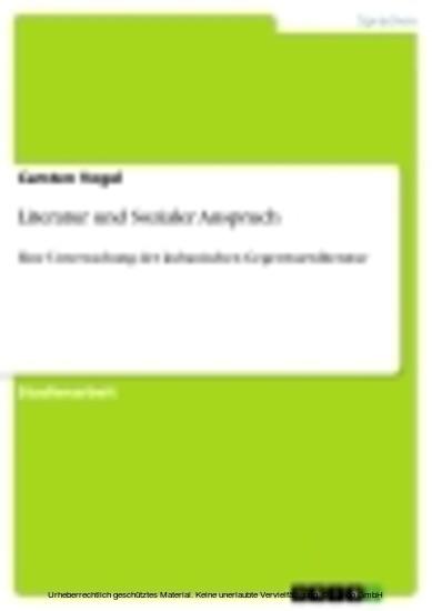 Literatur und Sozialer Anspruch - Blick ins Buch