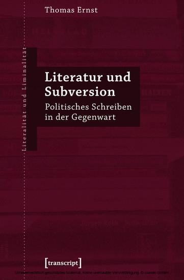 Literatur und Subversion - Blick ins Buch