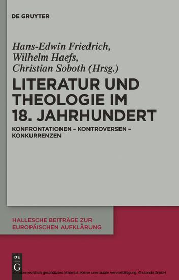 Literatur und Theologie im 18. Jahrhundert - Blick ins Buch