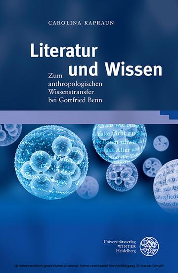 Literatur und Wissen - Blick ins Buch