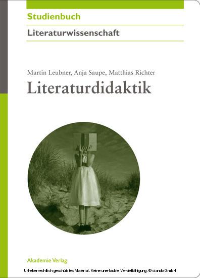 Literaturdidaktik - Blick ins Buch