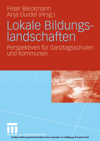 Lokale Bildungslandschaften - Blick ins Buch
