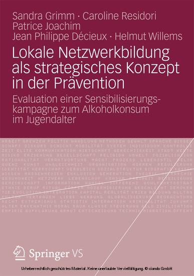 Lokale Netzwerkbildung als strategisches Konzept in der Prävention - Blick ins Buch