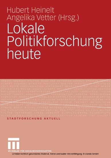 Lokale Politikforschung heute - Blick ins Buch