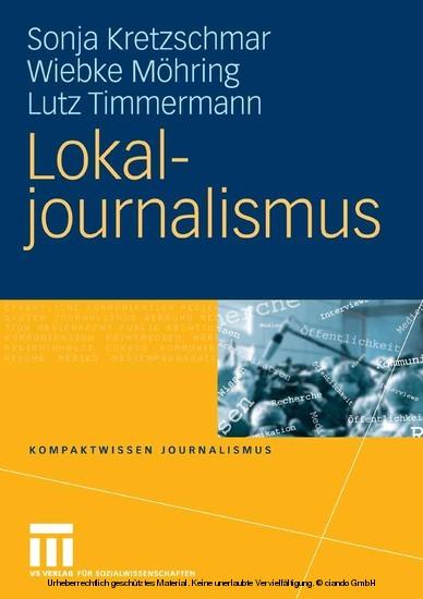 Lokaljournalismus - Blick ins Buch