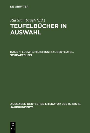 Ludwig Milichius: Zauberteufel. Schrapteufel - Blick ins Buch