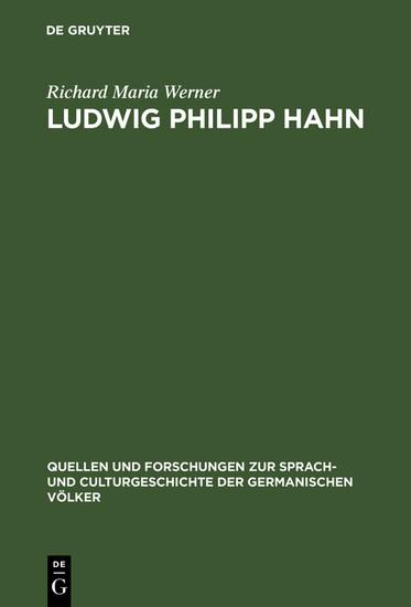 Ludwig Philipp Hahn - Blick ins Buch