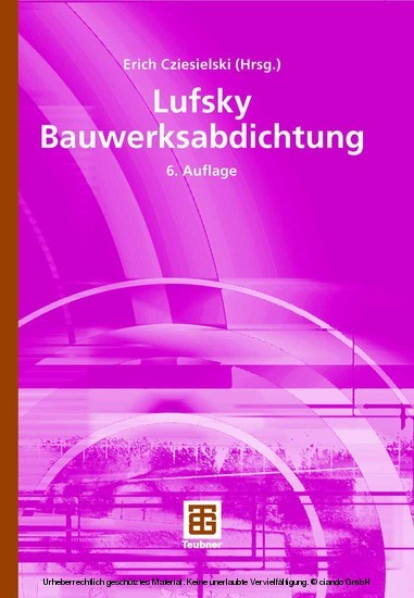 Lufsky Bauwerksabdichtung - Blick ins Buch