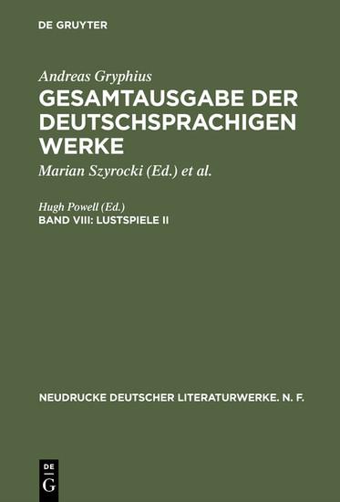 Lustspiele II - Blick ins Buch