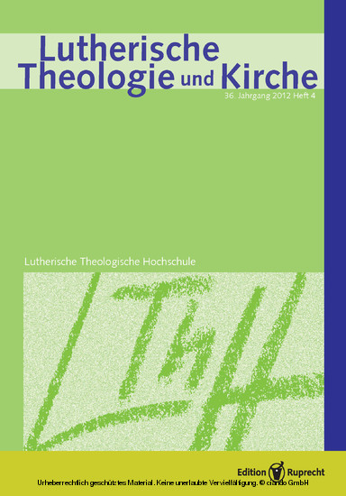 Lutherische Theologie und Kirche - Blick ins Buch