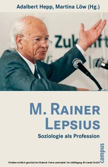 M. Rainer Lepsius - Blick ins Buch
