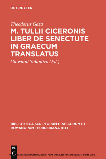 M. Tullii Ciceronis liber De senectute in Graecum translatus - Blick ins Buch