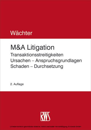 M&A-Litigation - Blick ins Buch