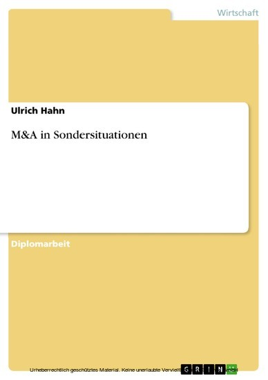 M&A in Sondersituationen - Blick ins Buch