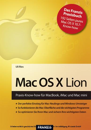 Mac OS X Lion - Blick ins Buch