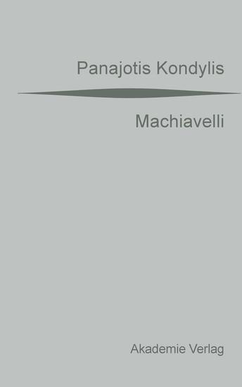 Machiavelli - Blick ins Buch