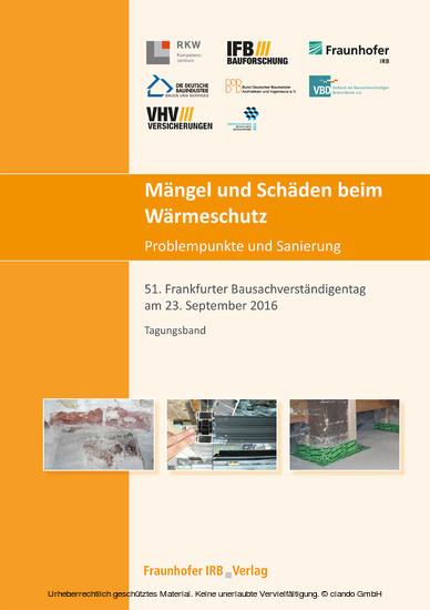 Mängel und Schäden beim Wärmeschutz. Problempunkte und Sanierung. - Blick ins Buch