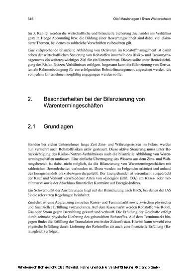 Management von Rohstoffrisiken - Blick ins Buch