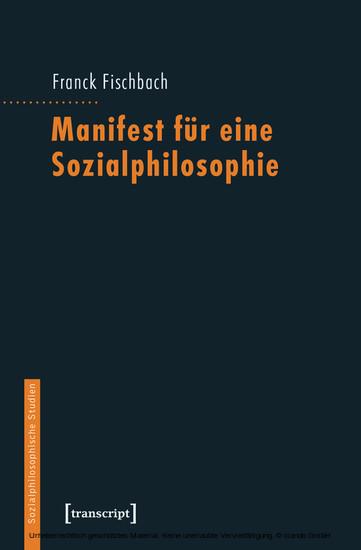 Manifest für eine Sozialphilosophie - Blick ins Buch