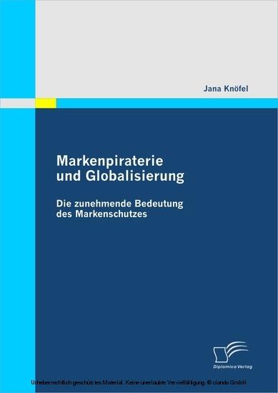 Markenpiraterie und Globalisierung - Blick ins Buch