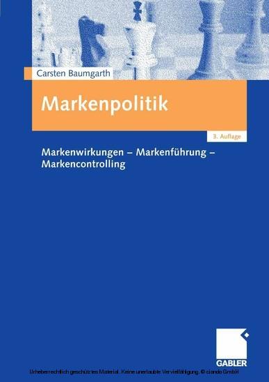 Markenpolitik - Blick ins Buch