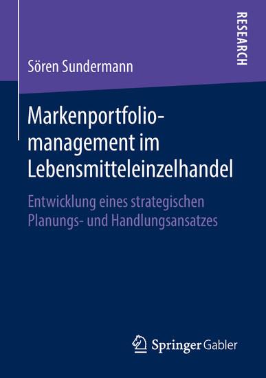 Markenportfoliomanagement im Lebensmitteleinzelhandel - Blick ins Buch