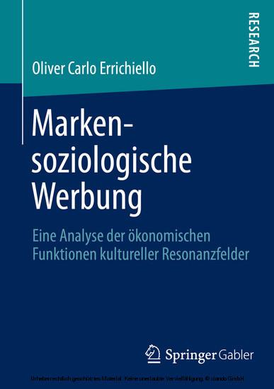 Markensoziologische Werbung - Blick ins Buch