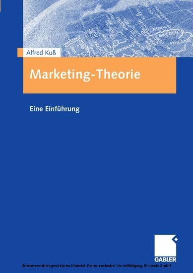 Marketing-Theorie - Blick ins Buch