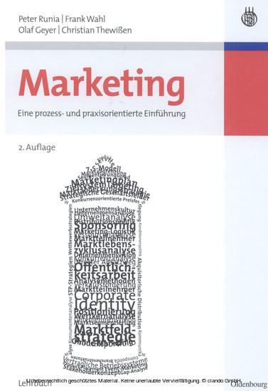 Marketing - Blick ins Buch