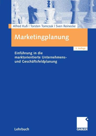 Marketingplanung - Blick ins Buch