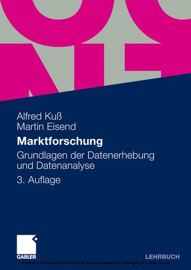 Marktforschung - Blick ins Buch
