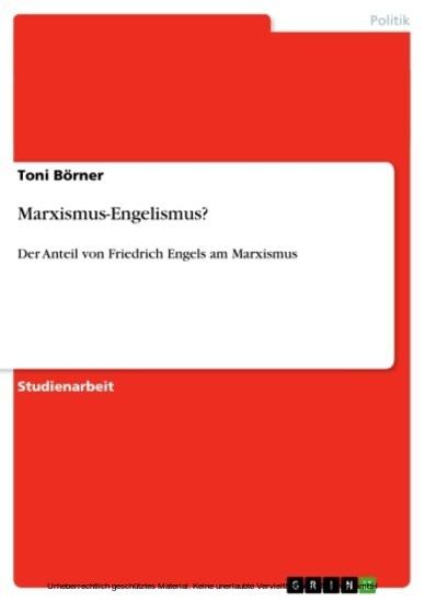 Marxismus-Engelismus? - Blick ins Buch