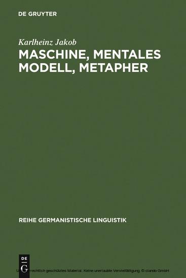 Maschine, mentales Modell, Metapher - Blick ins Buch