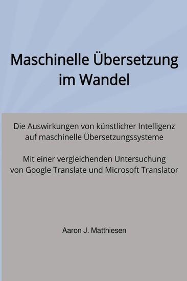 Maschinelle Übersetzung im Wandel - Blick ins Buch