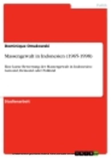 Massengewalt in Indonesien (1965-1998) - Blick ins Buch