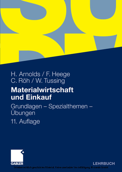 Materialwirtschaft und Einkauf - Blick ins Buch