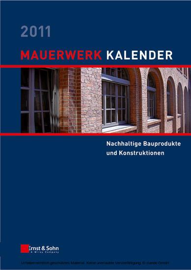 Mauerwerk-Kalender 2011 - Blick ins Buch