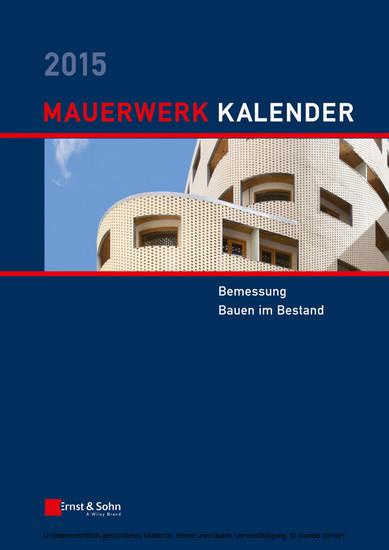Mauerwerk Kalender 2015 - Blick ins Buch