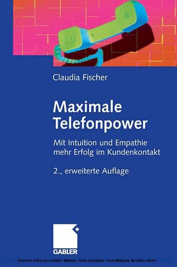 Maximale Telefonpower - Blick ins Buch