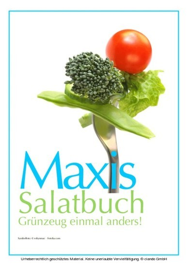 Maxis Salatbuch - Blick ins Buch